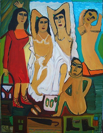 """Women"" Oil on canvas ©  Concha Lopez Bravo"