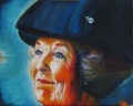 """Beatrix, Queen of the Netherlands"" Painting Acrilic on canvas ©  Painter Tinus Willemsen"
