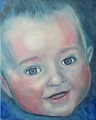 """Moos 4 months"" Painting Acrilic on canvas © 2014 Painter Tinus Willemsen"