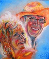 """just married"" Painting Acrilic on canvas ©  Painter Tinus Willemsen"