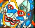 Demon  Oil pastels on paper © 2004